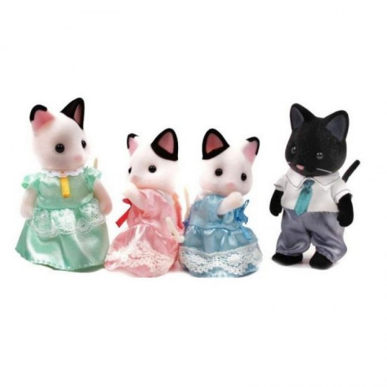 Sylvanian Families Οικογένεια Tuxedo Cat (5181)