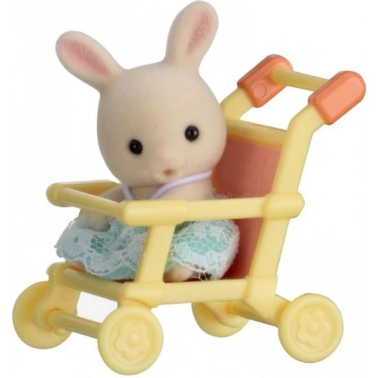 Sylvanian Families Rabbit Μωρό & Καροτσάκι (5200)