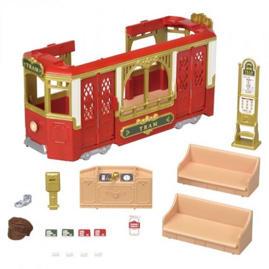 Sylvanian Families Town Series Ride Along Tram (6007)