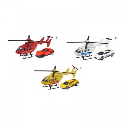 As Company Teamsterz Ελικόπτερο Και Όχημα Άμεσης Δράσης Emergency Response, 1:64 - (3 Σχέδια) (7535-73612)