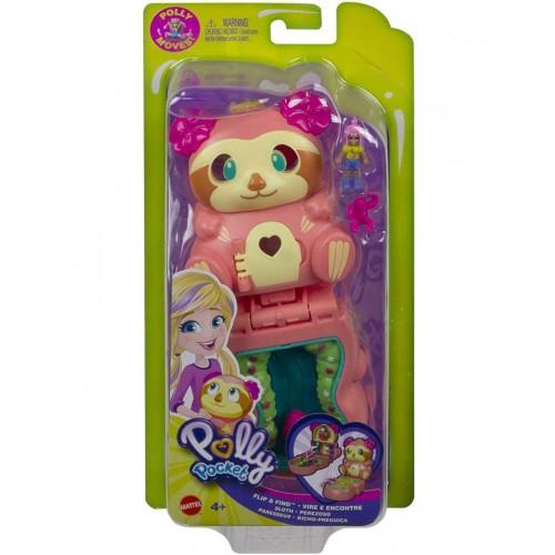 Mattel Polly Pocket Flip Find - Sloth (GTM59)