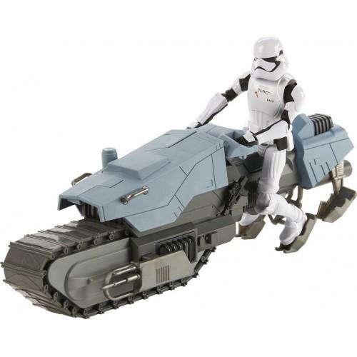 Hasbro Star Wars Galaxy Of Adventures First Order Driver And Treadspeeder Οδηγός Με Όχημα (E3030)